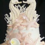 Seahorse couple topper close up ice pink pearl